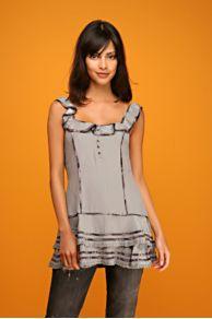 Free People Clothing Boutique > Silk Ruffle Tunic